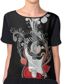 The flower guitar  Chiffon Top
