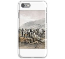 William Simpson - Embarkation of the Sick at Balaklava iPhone Case/Skin