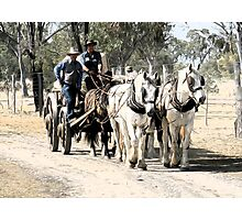Carting the Wool Bales Photographic Print
