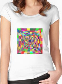 square colors Women's Fitted Scoop T-Shirt
