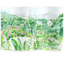 Watercolour - View from the Ridge - Eumundi Poster