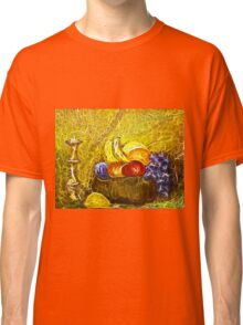 FRUIT AND CANDLE STILL LIFE Classic T-Shirt