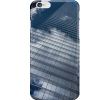 Reflected Sky - Skyscraper Geometry With Clouds - Right iPhone Case/Skin