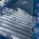Reflected Sky - Skyscraper Geometry With Clouds - Right by Georgia Mizuleva