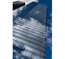 Reflected Sky - Skyscraper Geometry With Clouds - Right Photographic Print