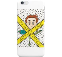 Artist Line Do Not Cross iPhone Case/Skin