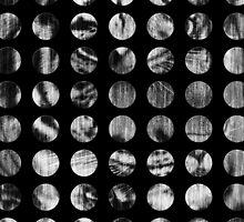 Black and White Tiger Polka Dots by Silvia Neto