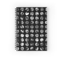 Black and White Tiger Polka Dots Spiral Notebook