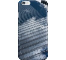 Reflected Sky - Skyscraper Geometry With Clouds - Left iPhone Case/Skin