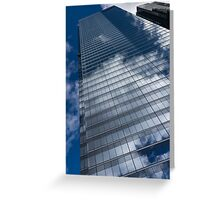 Reflected Sky - Skyscraper Geometry With Clouds - Left Greeting Card