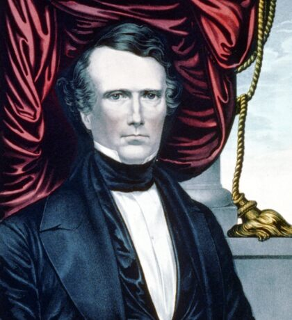 Franklin Pierce - Democratic candidate for fourteenth president of the United States - 1852 - Currier & Ives Sticker