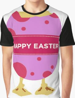 Happy Easter Chick Graphic T-Shirt