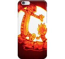 calvin and hobbes play iPhone Case/Skin