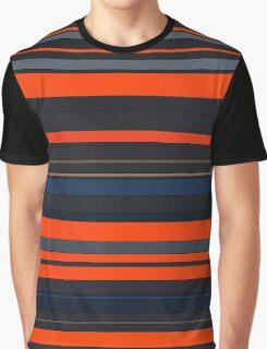 Blue and Orange Stripes Graphic T-Shirt