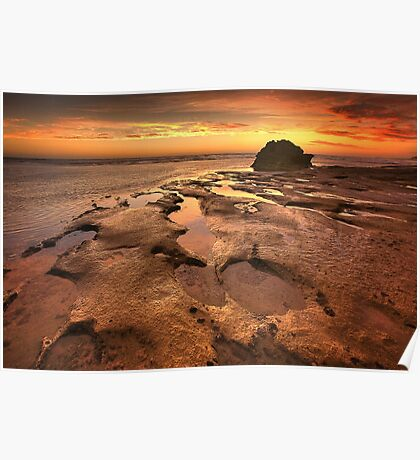 Receding Tide - Point Lonsdale Poster