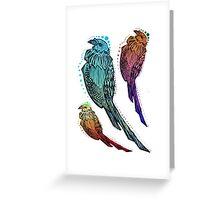 Psycho Pigeons Greeting Card