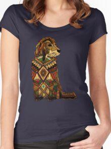 Golden Retriever dusk Women's Fitted Scoop T-Shirt
