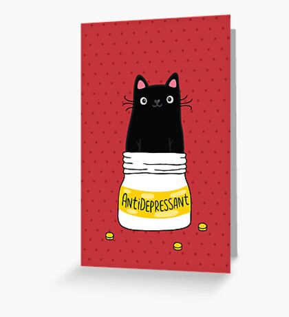FUR ANTIDEPRESSANT Greeting Card