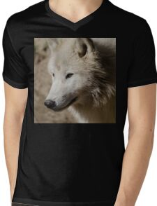 From the North - Arctic Wolf Mens V-Neck T-Shirt