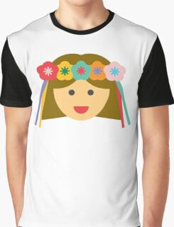 a girl with a flower crown Graphic T-Shirt