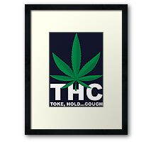 Weed Leaf THC - Weed T Shirts Framed Print
