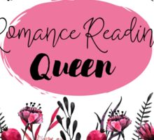 Romance Reading Queen Sticker