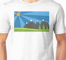 material design mountains Unisex T-Shirt