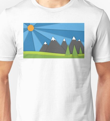 material design mountains Unisex T-Shirt