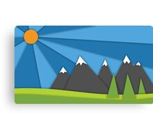 material design mountains Canvas Print