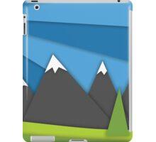 material design mountains iPad Case/Skin