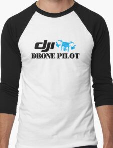 Dji Drone Plot Men's Baseball ¾ T-Shirt