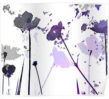Field of Flowers Indigo Poster