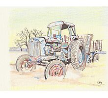 Tractor...at rest Photographic Print
