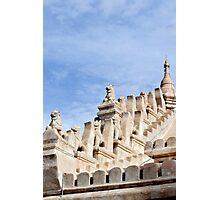 Ornate temple sculptures in Bagan, Myanmar Photographic Print