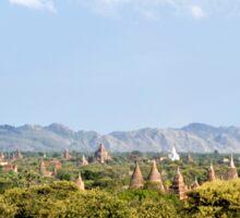 A plain of temples– Bagan, Myanmar Sticker