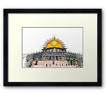 Jerusalem Old City, Dome of the Rock  Framed Print