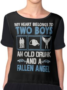 My Heart belong to two boys ( Sam and Dean ) Chiffon Top