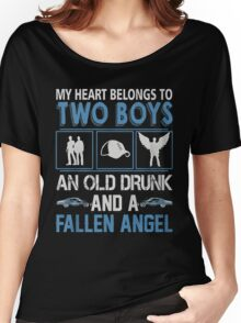 My Heart belong to two boys ( Sam and Dean ) Women's Relaxed Fit T-Shirt