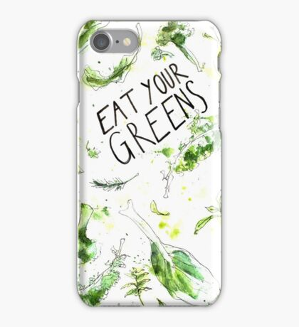 Eat your greens! Iss grün! iPhone Case/Skin