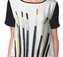 set of brushes for drawing Chiffon Top