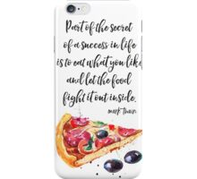 Mark Twain PIZZA quote iPhone Case/Skin