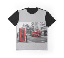 London bus red telephone Graphic T-Shirt