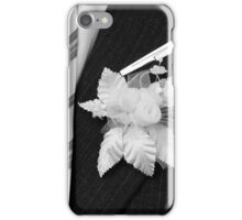 wedding groom suit and tie  iPhone Case/Skin
