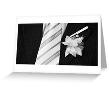 wedding groom suit and tie  Greeting Card