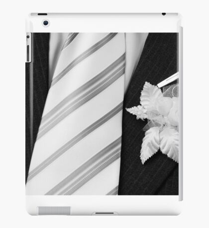wedding groom suit and tie  iPad Case/Skin