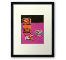 chinese cat Framed Print
