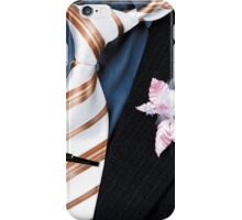 wedding groom suit and tie and a flower closeup iPhone Case/Skin