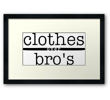 One tree hill- Clothes over bro's Framed Print