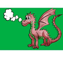 Gregory the not purple Welsh dragon Photographic Print