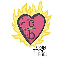 One tree hill- Burning Heart Photographic Print